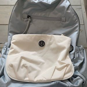 Lululemon silver back to class backpack